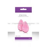Вагинальные шарики CRYST'AL KEGEL EGGS из стекла большие розовые