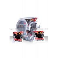 Набор широких эрекционных колец TREADS в пластиковом боксе, черныебелые, *30