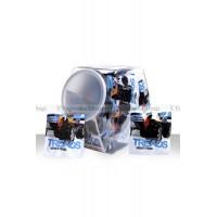 Набор узких эрекционных колец TREADS в пластиковом боксе, черныебелые, *30