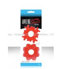 Эрекционные кольца LOVE ME TENDER красное