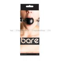Кляп Bare Bondage с отверстиями черный с прозрачными вставками