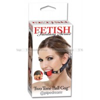 Кляп Fetish Fantasy Series Two Tone Ball Gag черный с красным