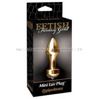 Анальная пробка Fetish Fantasy Gold Mini Luv Plug золотая