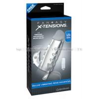 Насадка стимулирующая Deluxe Vibrating Penis Enhancer со стимулятором клитора прозрачная с вибрацией