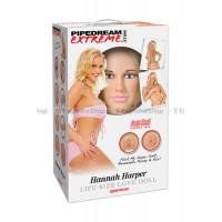 Кукла надувная Pipedream Extreme Dollz Hannah Harper LifeSize Love Doll с вставками блондинка.