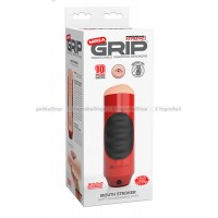 Мастурбатор ротик Pipedream Extreme Toyz Mega Grip Vibrating Stroker Mouth