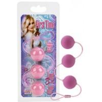 Вагинальные шарики First Time Love Balls Triple Lover  Pink