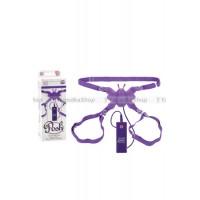 Стимулятор клитора на ремнях Posh BUTTERFLY LOVER с вибрацией фиолетовый