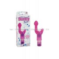 Вибромассажер Bunny Kiss розовый