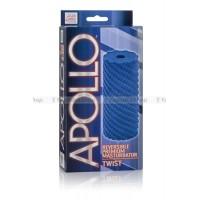 Мастурбатор Apollo Reversible Premium Masturbator Twist двусторонний голубой