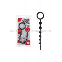 Анальная цепочка X10 BEADS силиконовая черная