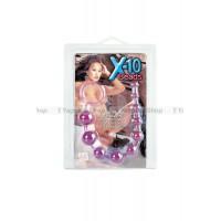 Анальная цепочка X10 BEADS фиолетовая