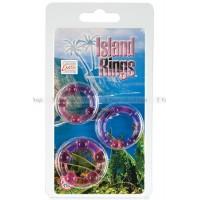 Комплект из 3х эрекционных колец Island Rings  Pink