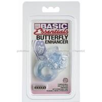 Эрекционное виброкольцо BASIC ESSENTIALS BTRFLY ENHANC