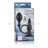 Анальная пробкарасширитель Dr. Joel Kaplan Silicone Inflatable Plug черная