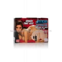 Мастурбатор реалистичный Vivid Raw Assterbator с вибрацией телесный