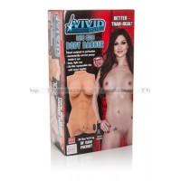 Мастурбаторторс реалистичный Vivid Raw Life Size Body Banger с вибрацией телесный