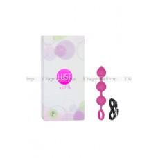 Анальная виброцепочка гибкая Lust by JOPEN  L9 перезаряжаемая розовая