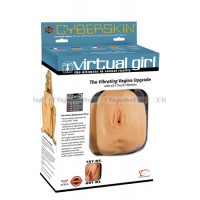 Мастурбатор вагина CyberSkin® Virtual Girl™ Vibrating Vagina телесный с вибрацией